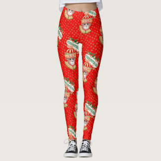 CHRISTMAS BEAR 6 CARTOON Leggings