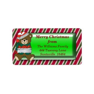 Christmas Bear Address Label