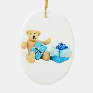 Christmas Bear Ceramic Ornament