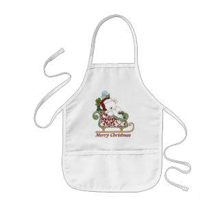 Christmas Bear holiday apron