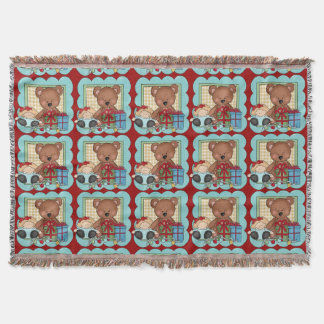 Christmas Bear Holiday Throw Blanket