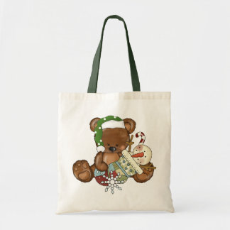 Christmas Bear Holiday tote bag