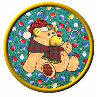 Christmas Bear Ornament Photo Cutout