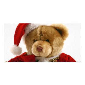 christmas bear photo card