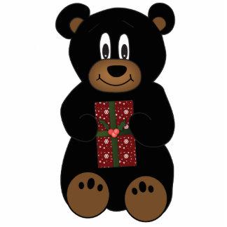 Christmas Bear Photo Ornament Photo Cutout