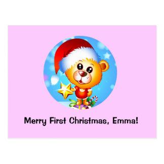 Christmas Bear Postcard