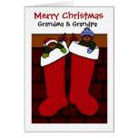 Christmas bears for grandma and grandpa cards
