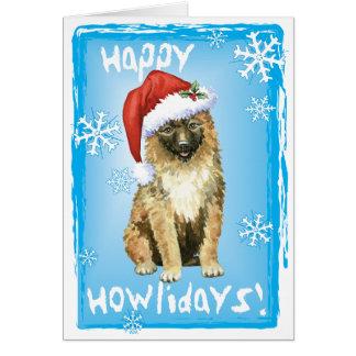Christmas Belgian Laekenois Card