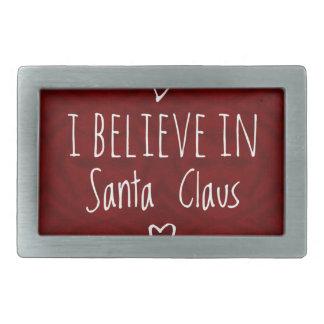 Christmas 'Believe in Santa Claus Quote Belt Buckles