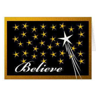Christmas, Believe, Spirit of the Season, Stars Card