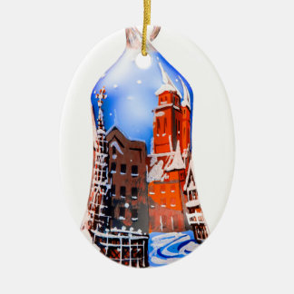 Christmas Bell #5 Ceramic Ornament