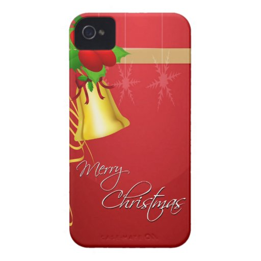 Christmas Bell and Ribbon iPhone 4 Cases