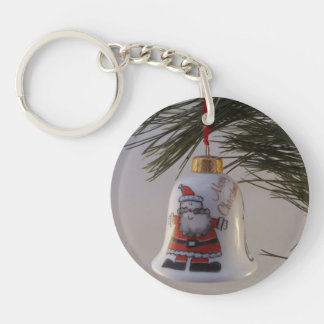 Christmas Bell Bauble Key Ring