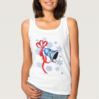 Christmas Bell & Snowflake Custom Basic Tank Top