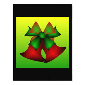 Christmas Bells 11 Cm X 14 Cm Invitation Card