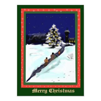 christmas bells- 14 cm x 19 cm invitation card