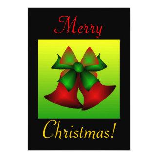 "Christmas Bells 5"" X 7"" Invitation Card"