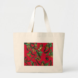 Christmas Bells and Pine Cones Bag