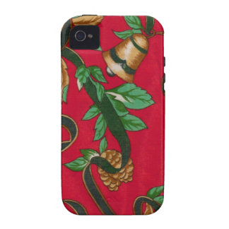 Christmas Bells and Pine Cones iPhone 4 Case