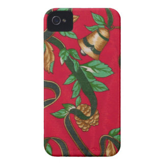 Christmas Bells and Pine Cones iPhone 4 Covers