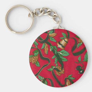 Christmas Bells and Pine Cones Key Chain