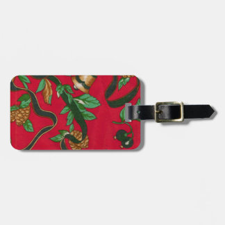 Christmas Bells and Pine Cones Travel Bag Tag