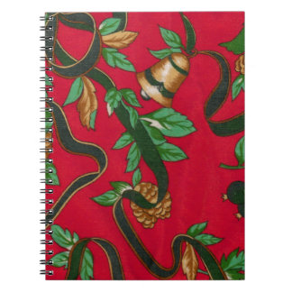 Christmas Bells and Pine Cones Notebook