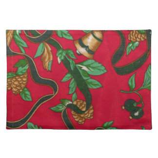 Christmas Bells and Pine Cones Placemats