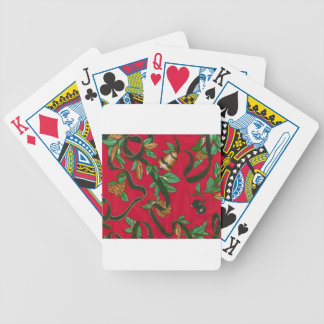 Christmas Bells and Pine Cones Bicycle Card Deck