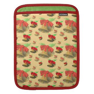 Christmas Bells and Red Bow iPad Sleeve
