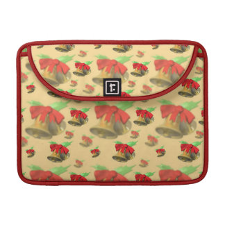 Christmas Bells and Red Bow Sleeves For MacBook Pro