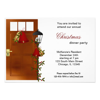 Christmas Bells dinner Invites