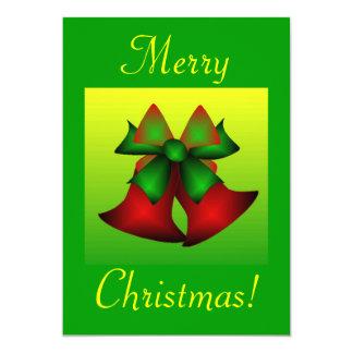 "Christmas Bells I 5"" X 7"" Invitation Card"
