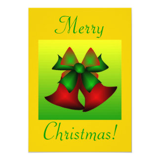 "Christmas Bells III 5"" X 7"" Invitation Card"