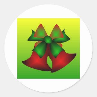Christmas Bells III Classic Round Sticker