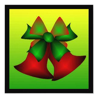 Christmas Bells 5.25x5.25 Square Paper Invitation Card