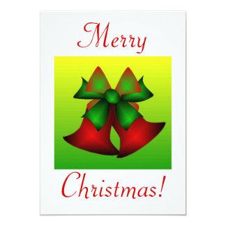 "Christmas Bells IV 5"" X 7"" Invitation Card"