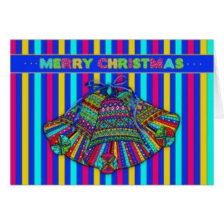 Christmas Bells - Mosaic Type Pattern -Vivid Card