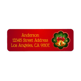 Christmas Bells Return Address Label