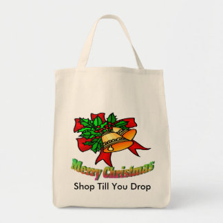 Christmas Bells, Shop Till You Drop Grocery Tote Bag