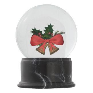christmas bells snow globe