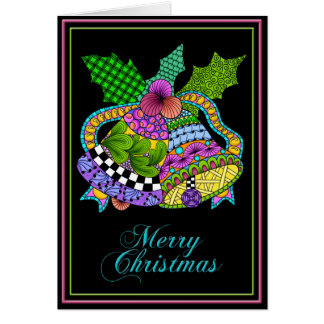 Christmas Bells Twist Black Card