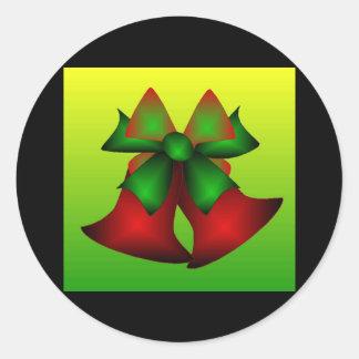 Christmas Bells VI Round Stickers