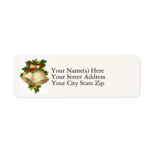 Christmas Bells Vintage Return Address Label
