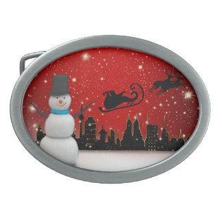Christmas Oval Belt Buckles