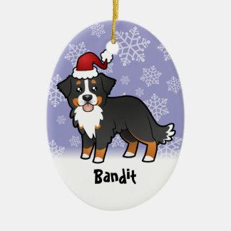 Christmas Bernese Mountain Dog Ceramic Ornament