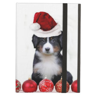 Christmas Bernese Mountain Dog iPad Air Cases