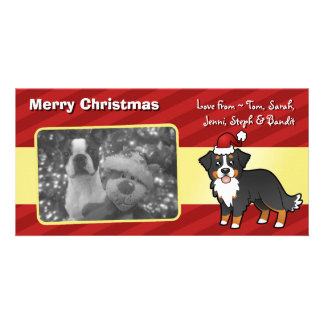 Christmas Bernese Mountain Dog Personalized Photo Card