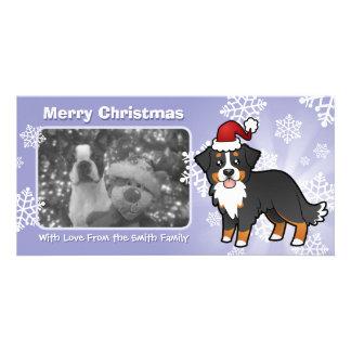 Christmas Bernese Mountain Dog Photo Greeting Card