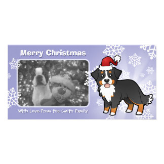 Christmas Bernese Mountain Dog Picture Card